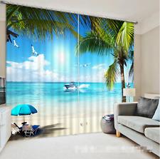 3D Ocean Resort 352 Blockade Foto Vorhang Druckvorhang Vorhänge Stoff Fenster DE