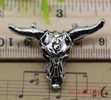 5/20pcs retro style cattle head skeleton alloy charms pendant 27x37mm