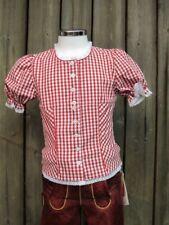 KIDSTRACHT Bluse Trachtenbluse rot - weiß kariert Karo Gr 92 - 164 z Lederhose