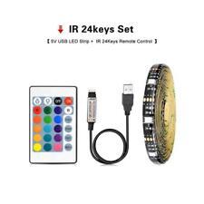 0.5M/1M/2M/3M/5M 5V USB 5050SMD LED Strip Light Tape TV Background Waterproof