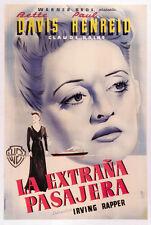 Now, Voyager (1942) Bette Davis movie poster print