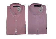 Polo Ralph Lauren Mens Pony Logo Button Down Solid Pink Long Sleeve Dress Shirt