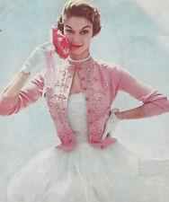 Vintage Knitting PATTERN to make Beaded Designer Cardigan Sweater Shortie JewelC