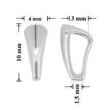 Plata Esterlina diapositiva Colgantes Sin Clip 10x4mm * joyas Resultados