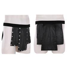 Herren Dessous Kilt Rock Lackleder Clubwear Gladiator Kostüm Unterwäsche Schwarz