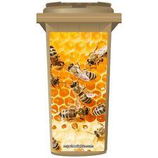 Les abeilles dans du miel wheelie bin autocollant panneau