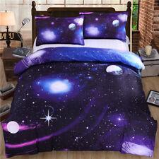 3D Solar System Star Quilt Cover Set Bedding Duvet Cover Double/Queen/King 96