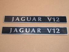 Jaguar XJ12 XJS V12 Engine Badges 6.0 liter 5.3 liter  EBC2843 NEW OEM