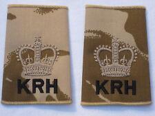 Warrant officer 2 (CSM) Kings Royal Hussars, KRH , DESERTO RANGO
