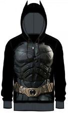 Dark Knight Batman Adult Black Costume Hoody Hoodie - DC Comics Superheros