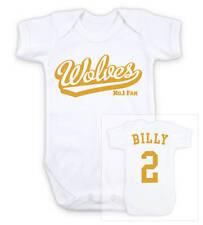 WOLVES Football Personalised Baby Bodysuit Vest