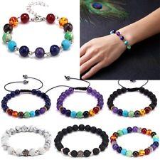 Fashion Handmade Adjustable Men Women 7 Chakra Bead Bracelet Bangle Jewelry Gift