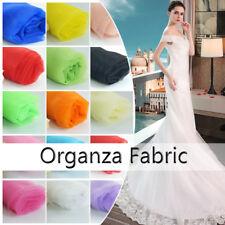 Organza Fabric Material Plain Soft Cloth Eco DIY for Dress Bridal Veil Curtain