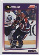 1991-92 Score American #359 Ken Linseman Edmonton Oilers Hockey Card