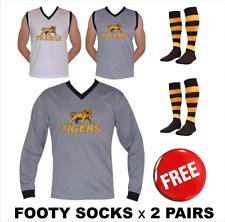 NEW Tigers Football Jumper Long Sleeve or Sleeveless + Richmond Footy Socks x 2