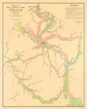 Old France Map - Paris Transportation Routes - Regnier 1853 - 23 x 28.69