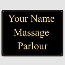 Personalised Custom Massage Parlour Aluminium Office Door Signs