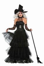 Ember Witch Deluxe Damen-Kostüm inkl. Hut Halloween Hexe Korsage Rock Schwarz