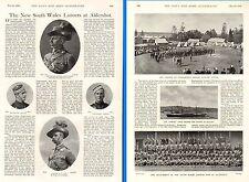 1899 BOER WAR ~ N.S.W.LANCERS ALDERSHOT CAPTAIN C.F.COX  LT.COL JAMES BURNS