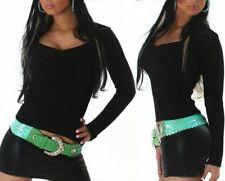 SEXY Damen Bolero Strick Pulli Trend V Pullover S/M 34/36 M/L 36/38 Schwarz Neu
