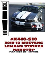 K410 2010-12 FORD MUSTANG - LEMANS RACING STRIPES - HARDTOP - NO WING