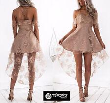 Vestito Asimmetrico Donna Cerimonia Woman Party Asymmetric Dress 110398