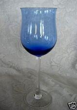 Beautiful LENOX Lt.Cobalt Blue / Crystal Blown Glass Wine Goblet