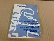 Revue technique Manuel Fahrer-und wartungs-handbuch Yamaha TT-R90(P)