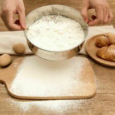 New listing 1 X Stainless Steel Flour Sieve Kitchen Fine Mesh Strainer Sifter Filter 15-30cm