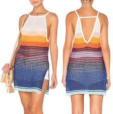 Free People OB504505 Multicolor Gossamer Striped Knit Halter Tunic Top - $148