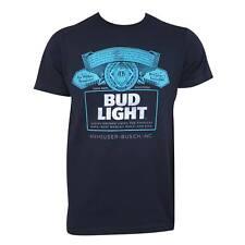 Bud Light Navy Tee Shirt Blue