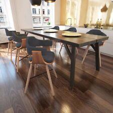 Lot de chaises de salle à manger en bois cintré avec revêtement en tissu