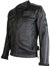 Motorrad Retro Racing Lederjacke Motorradjacke Bikerjacke Clubjacke Rocker Biker