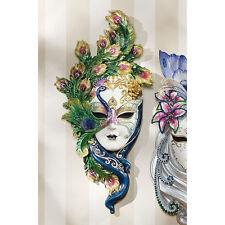 Venetian Italian Decorative Wall Sculpture Art Peacock Masquerade Wall Mask