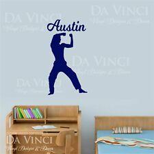 Karate Martial Arts Wall Room Personalized Custom Name Vinyl Sticker E
