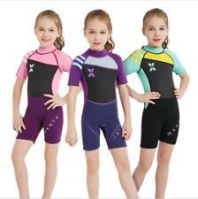 Children Short Sleeve Swimwear Kids 2.5MM Neoprene Scuba Diving Wet Suit Surfing