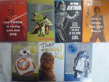 Official Licensed Star Wars Happy Birthday Card & Env Yoda, Han, R2D2, Vader BB8