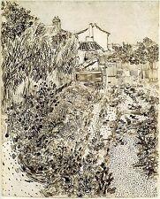 Van Gogh Drawings: Cottage Garden - Fine Art Print