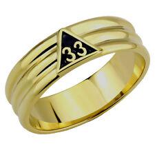T23 Scottish Rite 33 Degree Ring 33rd Thirty Third Freemason Mason Freemason