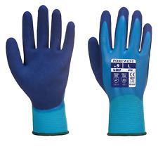 Portwest AP80 Liquid Pro Gloves Aqua Latex Waterproof Fully Coated -Various Size