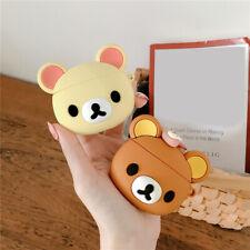 Airpods Case Cute Cartoon Rilakkuma Bear Doll Shockproof Cover for Apple Airpods