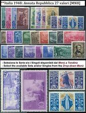 ** Italia Repubblica Annata 1948 Serie e Singoli [ Inserzione Multipla ]