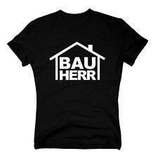 T-Shirt BAUHERR Richtfest Bauarbeiter Hausbau Baustelle Bau Handwerker S-3XL