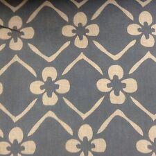 Biancheria da Stoccolma Blu/Avorio larghezza 280 cm tessuto per tende