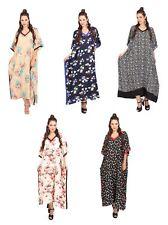 Miss Lavish Kaftan Tunic Maxi Dress Sleepwear Plus Size Kimono