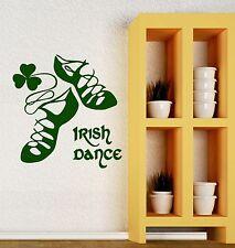 Irish Dancing Ireland Wall Vinyl Sticker Dance Decor Decal for Irishman (ig253)