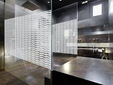 Decorativo Wave Patterned Finestra Pellicola, Frosted VINILE PRIVACY VETRO RIVESTIMENTO CO