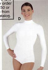 NWOT White Zipperback Mock Turtleneck long sl ch/ladies 99738 no snap crotch