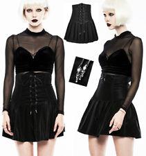Jupe corset plissé gothique punk lolita cuir velours réversible fashion Punkrave