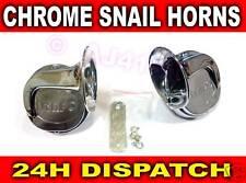 Pair CHROME Snail style Air Horn Twin Tone Ferrari